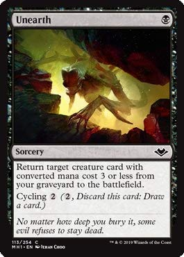 Magic: The Gathering - Unearth - Modern Horizons