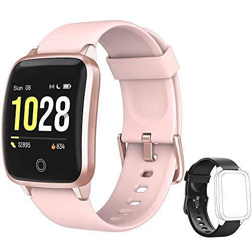 Yishark Reloj Inteligente Mujer Pulsera Actividad Niños Hombres Podómetro Reloj Deportivo Monitor de Sueño Fitness Tracker Smartwatch Pulsómetros Contador de Calorías Pasos Reloj para Android iPhone