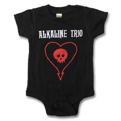 Alkaline Trio - Heartskull Baby Romper T-Shirt (12-18 Months) Black