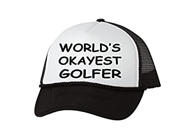 Rogue River Tactical Funny Golf Hat Okayest Golfer Trucker Baseball Cap Retro Vintage Golfers Gift