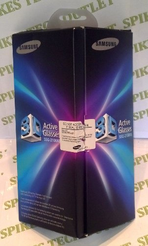 Samsung SSG-2100AB Battery 3-D Glasses - Black (Compatible with 2010 3D TVs)