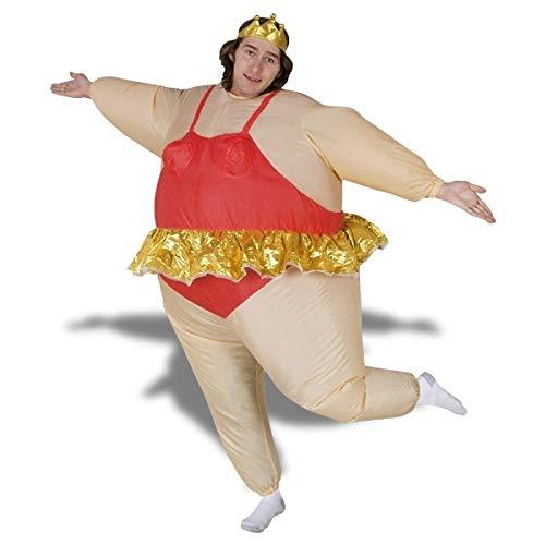 Eurroweb Costume Danseuse Ballerine Gonflable Costume avec Couronne