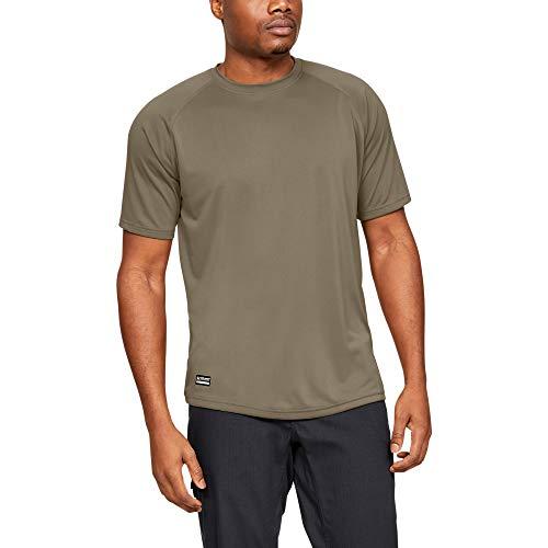 Under Armour UA TAC Tech T, T-Shirt Ua Tac Tech T Homme, Marron (Federal Tan), Medium