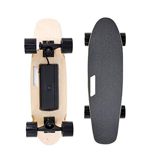 FATSW Ahornholz Deck Elektrisches Longboard Elektro Skateboard mit Fernbedienung und Motor, Höchstgeschwindigkeit 20km/h, bis zu 10km Reichweit, für Jugendliche Erwachsene*