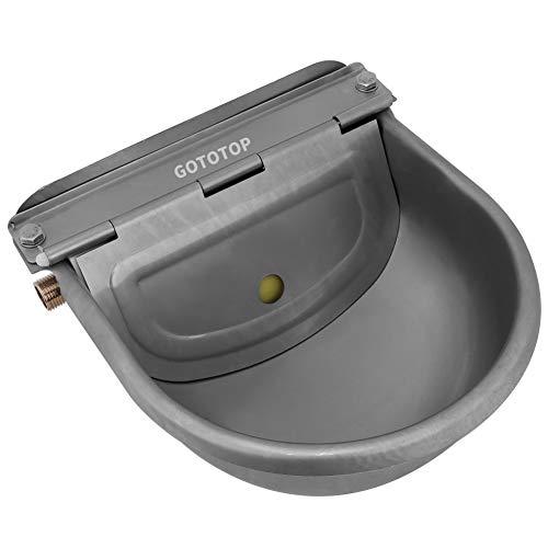 Bol de agua automático de acero inoxidable para caballos, cabras, ovejas, bovinos, 4 l