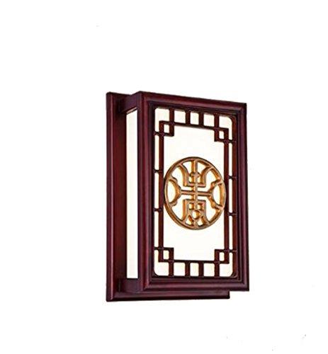 Slaapkamer Armaturen Chinese Muur Lamp Planken Retro Lamp van de Muur Woonkamer Slaapkamer Muur bedlampje Classical Muur Lamp 6W leidde wandlamp, 24 * 10 * 36cm W Wandlamp Verlichting