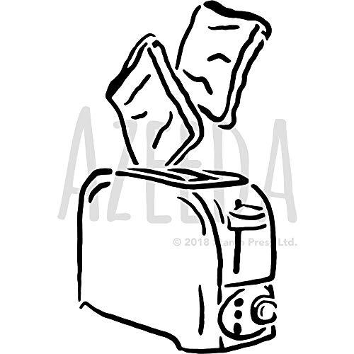 Azeeda Groß A2 'Toast und Toaster' Wandschablone / Vorlage (WS00041499)