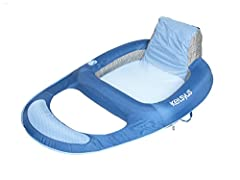 The Kelsyus Floating Lounger is a fabric-covered inflatable floating chair perfect for relaxing in the lake or pool. Features a comfortable mesh seat, integrated backrest, ottoman and cup holder. Patented inner spring around the outside edge ensures ...