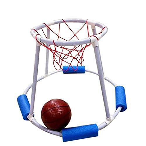 Dongbin Floating Basketball Hoop mit Board Swimming Pool Water Game Set für Outdoor, Basketball Schwimm Basketball Spiel Pool Basketball Spielzeug Wassersport Spielzeug,Ball pumpen