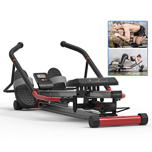 Review Rowing Machine Household Rowing Machine Fitness Equipment Abdominal Folding Silent Non-Water ...