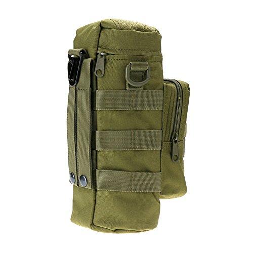 Hotportgift Outdoor Sport Wasserflasche Wasserkessel Tasche - Grün, Small pocket size(L X W X H): 16*3*3cm