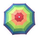 Mdsfe 50 y 65 cm Camuflaje Digital Pesca Senderismo Sombrero Paraguas Lluvia Mujeres Paraguas Mujeres al Aire Libre Plegable Cabeza Paraguas - A55CM