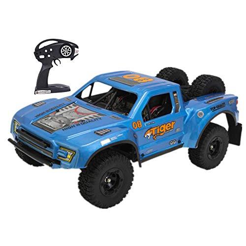 Carrinho off-road de controle remoto de alta velocidade com quatro rodas, motor sem escovas carro de escalada para competição, multijogador de 2,4 GHz, brinquedo antitravamento, presente de brinquedo para presente, azul
