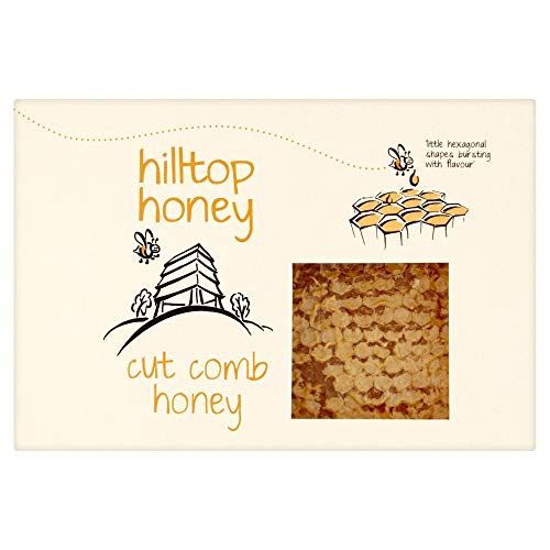 Hilltop Honey Raw Cut Comb Slab 400 g