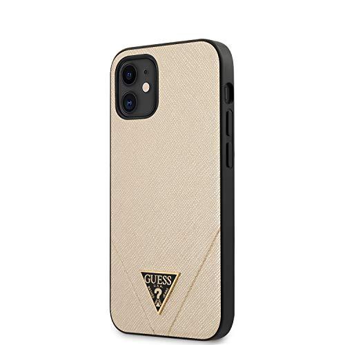 "Guess GUHCP12SVSATMLLG Saffiano Hülle für iPhone 12 Mini 5,4"" golden"