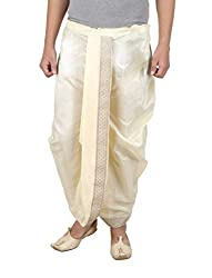 Larwa Mens Silk Solid Fully Stitched Dhoti