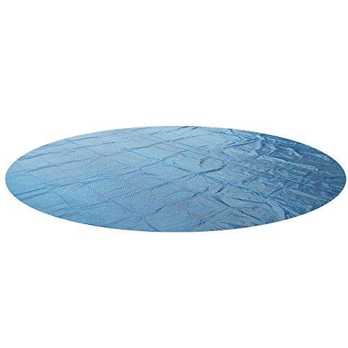 Miganeo Premium solarplane 244 305 366 400 457 488 500 549 600 732 cm Solarfolie Solarplane schwarz/blau Poolheizung für Pool (366 cm rund)