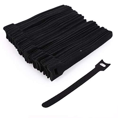 Surepromise 100pcs Cintas Organizadores Cables Reutilizables Ataduras Cables Tiras finitas de Velcro...