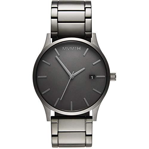 MVMT Classic Watches   45 MM Men's Analog Minimalist Watch   Monochrome Link