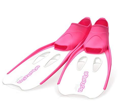 Aquazon Flossen, Schnorchelflossen, Schwimmflossen, Tauchflossen Flipper Für Kinder, Jugendliche Und Damen 36-37 Pink