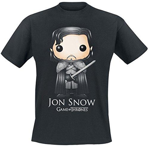 Juego de Tronos Funko Pop! - Jon Snow Camiseta Negro XL