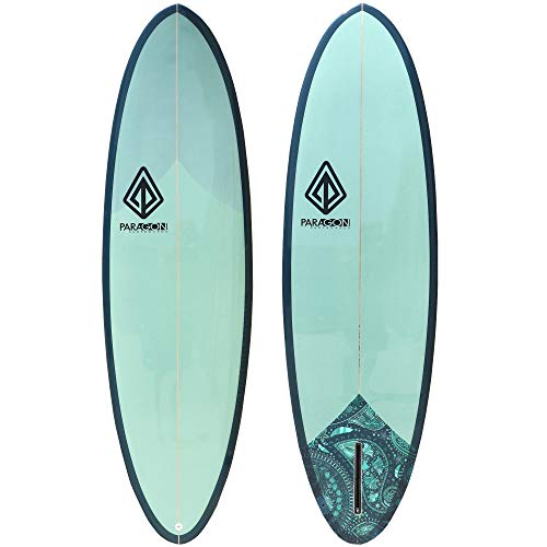 Paragon Surfboards Retro Egg Surfboard | Fun & Easy to Ride Single Fin Performance Surf Board Ideal for Intermediate Surfers | 6'6'x 22.06'x 2.75' | Eggplant