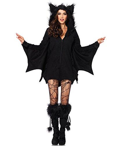 Disfraz de Halloween Vestido de Bruja Hechicera Fantasma Novia Batman Bat Traje de Mujer (Murciélago, Pequeño)