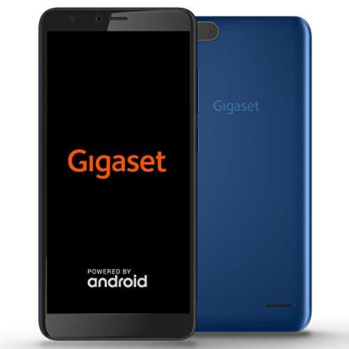 Gigaset GS100 Einsteiger-Smartphone ohne Vertrag (13,97 cm (5,5 Zoll HD+) 18:9 Display, 8GB Speicher, Android Oreo 8.1 Go) cobalt blue