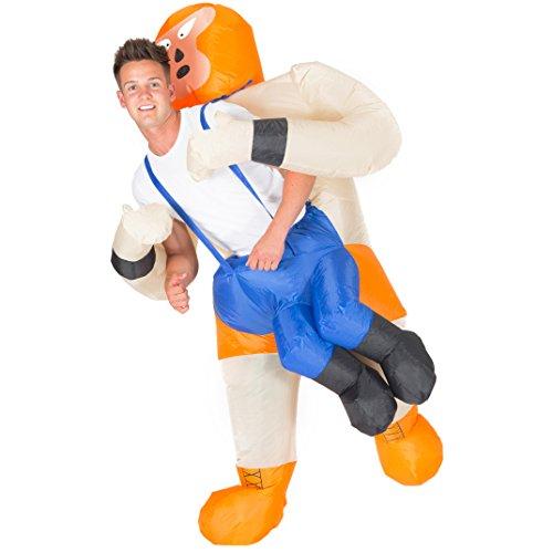 Bodysocks® Aufblasbares Wrestler Kostüm für Erwachsene