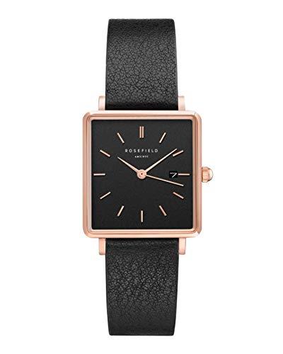 Rosefield Damen Analog Quarz Uhr mit Leder Armband QBBR-Q10