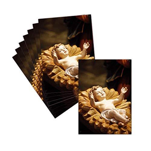 Carte Noel Religiosa (Natale E Natività) – 8 Carte – Carte Il Piccolo Gesù ➽ Dispo In 3 Formati Carte Pliée - 14 Cm X 19,5 Cm