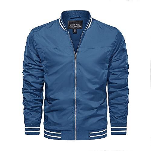 Photo of KEFITEVD Men's Spring Summer Lightweight Sports Jacket Casual Thin Baseball Track Jackets with Pockets Royal Blue