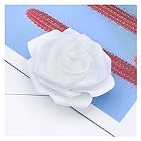フェイクフラワ 5/10/20バラのDIYギフトボックスの結婚式の車の装飾ブライダルアクセサリーの造られた花 造花 (Color : 1, サイズ : 5 Pieces)