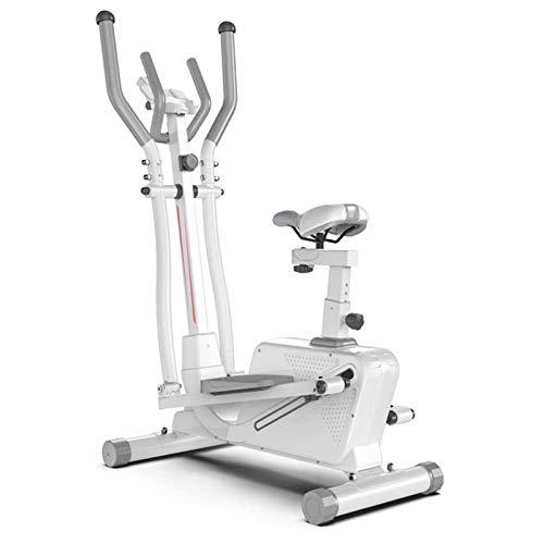 WJFXJQ Macchina ellittica Magnetica Bike di filatura, Trainer ellittico Trasversale e Bici da Esercizio 3 in 1 Cardio Home Office Workout Allenatore