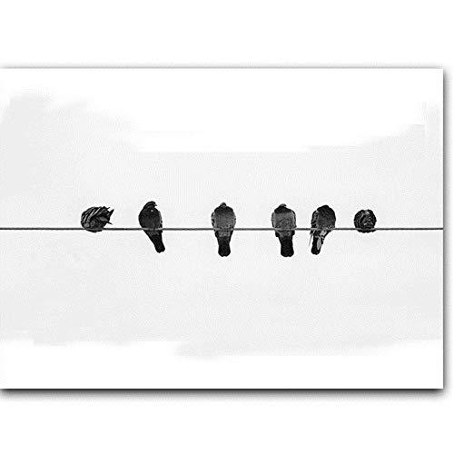 XIAOJIE0104 Minimalista Guitarra Piano Partitura y pájaros...
