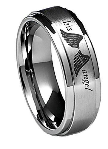 Southern Designs His Angel Rings - Matches The Her Cowboy Rings in Silver (9)