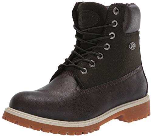Lugz Men's Convoy Fashion Boot, Dark Brown/Moss Green, 14 D US