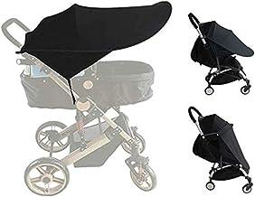 ASEOK Baby Buggy Sun, Infant Kinderwagen Sonnenschutz, Kinderwagen UV-Schutz Strahlen Cover Vorzelt Schwarz