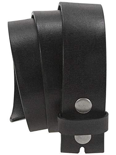 HC Damen Herren hochwertiger Ledergürtel aus Büffelleder mit Druckknopf, Farben:schwarz, Bundweite:Bundweite 95 = Gesamtlänge 109