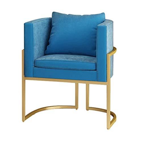 Betterall Sillas para salón, silla de tela simple, silla de oficina, taburete adecuado para restaurante, hotel, sala de estar, 2 colores a elegir (color: azul) (color: azul)