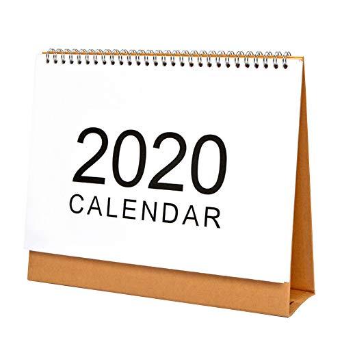 Calendario de escritorio 2020 Planificador de calendario con tapa, grande, 8.2'x9.8', 21x25cm