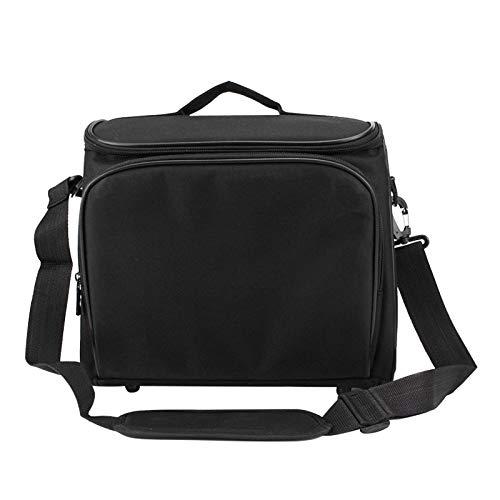 JJSCHMRC Bolsa organizadora de proyector, bolsa de transporte de viaje para proyector, estuche de proyector de vídeo con correa para el hombro, estuche de proyector resistente a los golpes