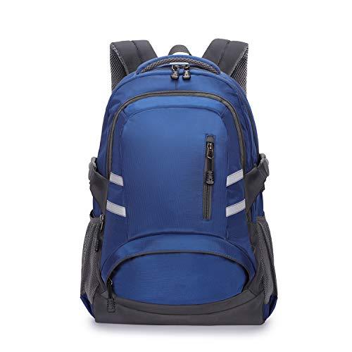 Rucksack Herren Schulrucksack, Laptop-Rucksack für Jungen Mädchen Für 15,6-Zoll-Laptop Unisex Leichte 30L College-Rucksack Daypack mit USB-Ladeanschluss für Damen Herren