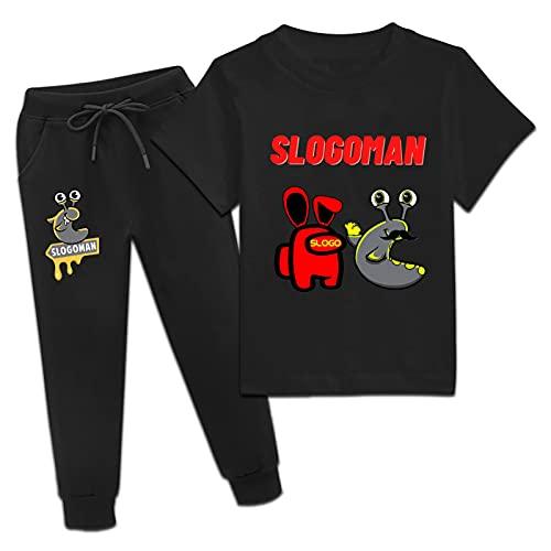 Jelly Merch - Juego de camisetas y pantalones para jóvenes de manga corta y pantalones deportivos para niños y niñas