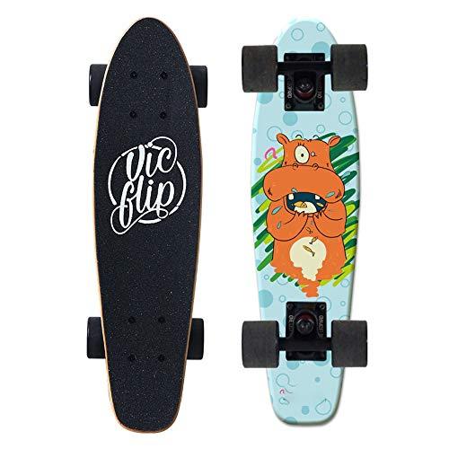 LJHBC Skateboard Kind Erwachsene Skateboard 7-stöckiges Ahorndeck Geburtstagsgeschenk 22
