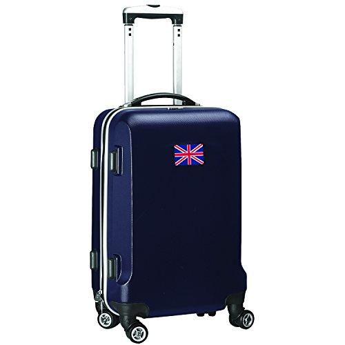 'Flag of England' Carry-On Hardcase Luggage Spinner, Navy