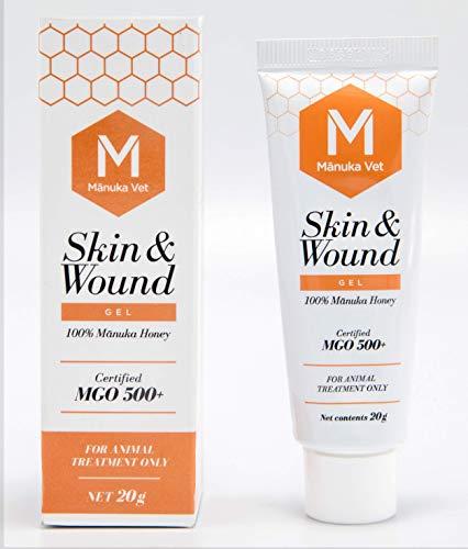 ManukaVet Manuka Wundbehandlung für Pferde, Katzen und Hunde | 100% Antibiotikafrei (Wund Gel 20ml)