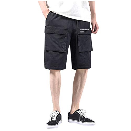Herrentasche Baumwolle Multi Pocket Overalls Shorts Fashion Pant Solid Color Multi Pocket Shorts Something Army Green Black M/L/XL/2XL/3XL/4XL/5XL