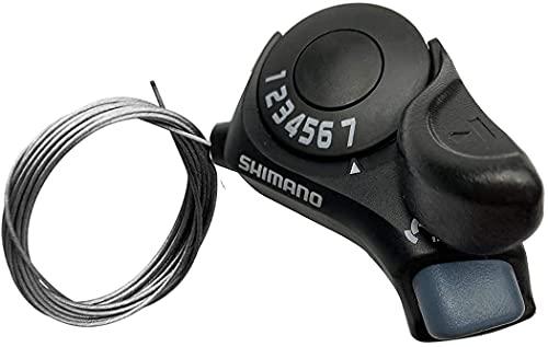 MEGHNA Daumenschalter SL-TX30-7R Rechter Schalthebel 7 Gang Bike Schaltwerk für Mountainbike MTB