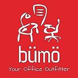 Bümö® ergonomischer Schreibtisch elektrisch höhenverstellbar | höhenverstellbarer Büroschreibtisch in 160 x 80 cm Buche - 9
